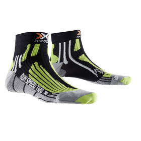 X-Socks Run Speed Two Socks Men Black/Green Lime